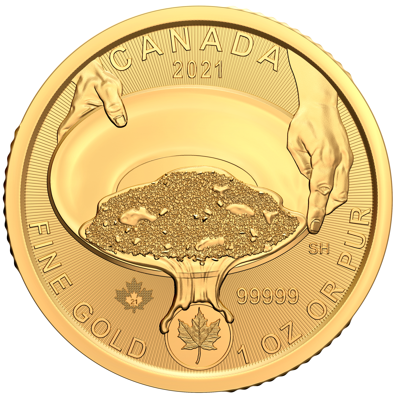 Klondike Goldrausch 1 Unze Goldmünze