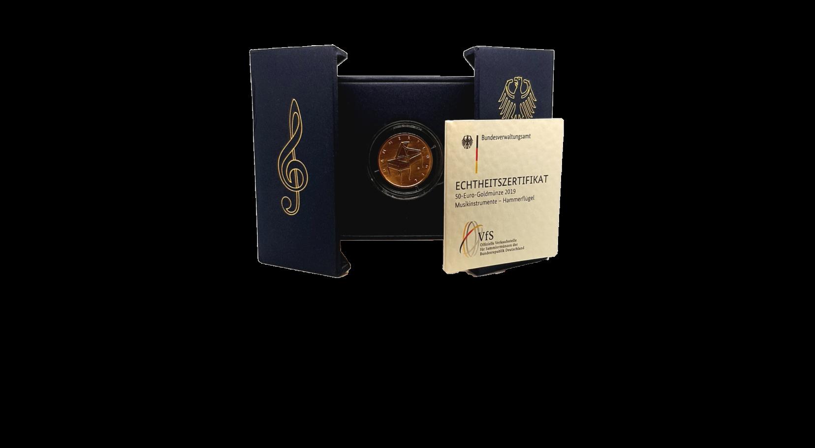 "50-Euro-Goldmünze 2019 ""Hammerflügel"""