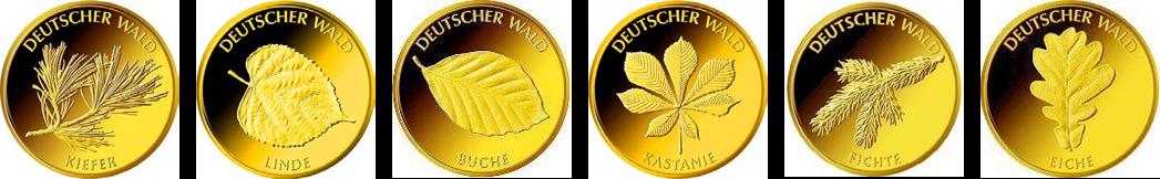 20-Euro-Goldmünze Set deutscher Wald