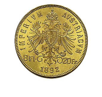 8 Florin Goldgulden Goldmünze