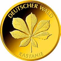 """20-Euro-Goldmünze 2014 """"Kastanie"""""""