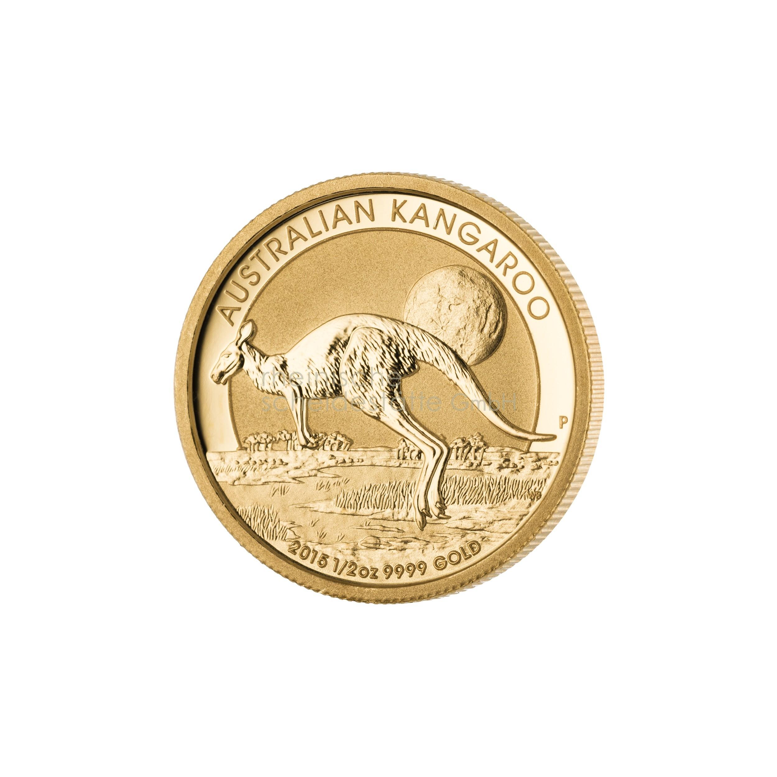 1/2 Unze Australian Kangaroo Goldmünze 1