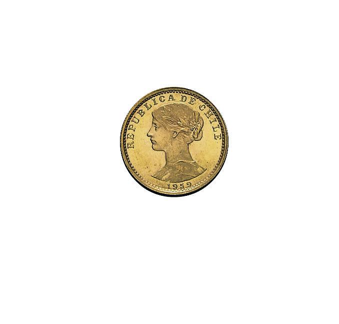 20 Pesos Chile Goldmünze
