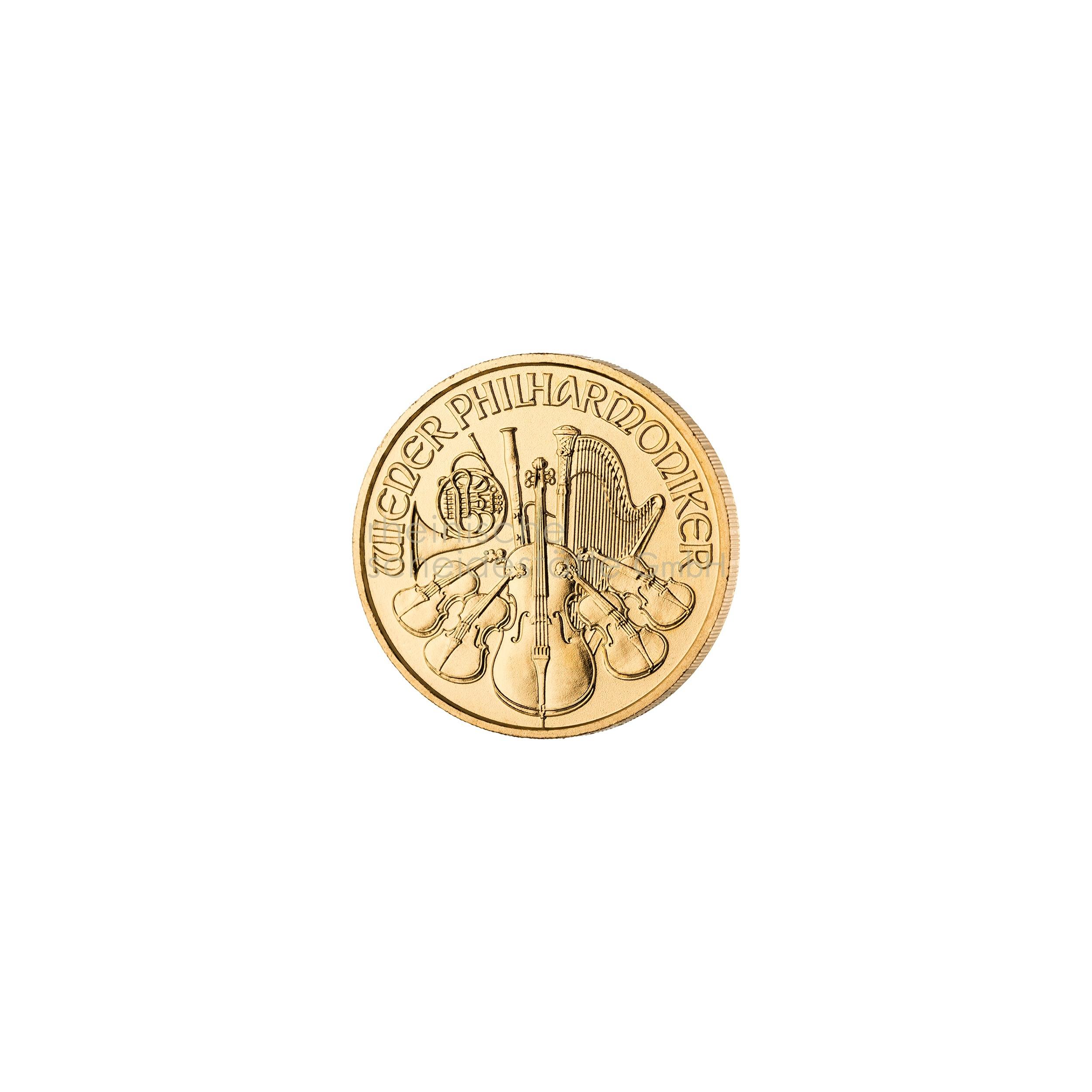 1/10 Unze Wiener Philarmoniker Goldmünze 2