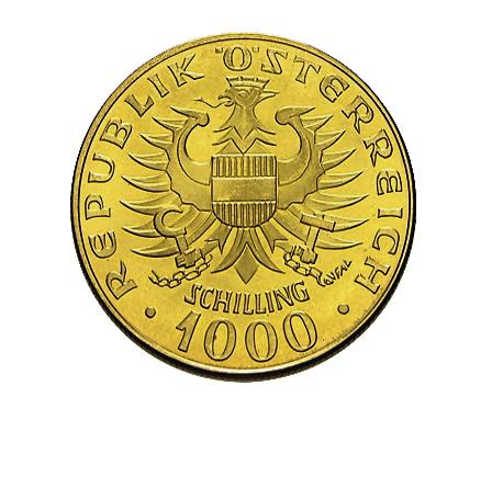 1.000 Schilling Babenberger Goldmünze