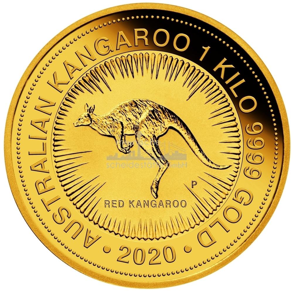 1 kg Australian Kangaroo Goldmünze