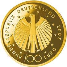 100-Euro-Goldmünze 2005 FIFA Fußball-Weltmeisterschaft in Deutschland 2006