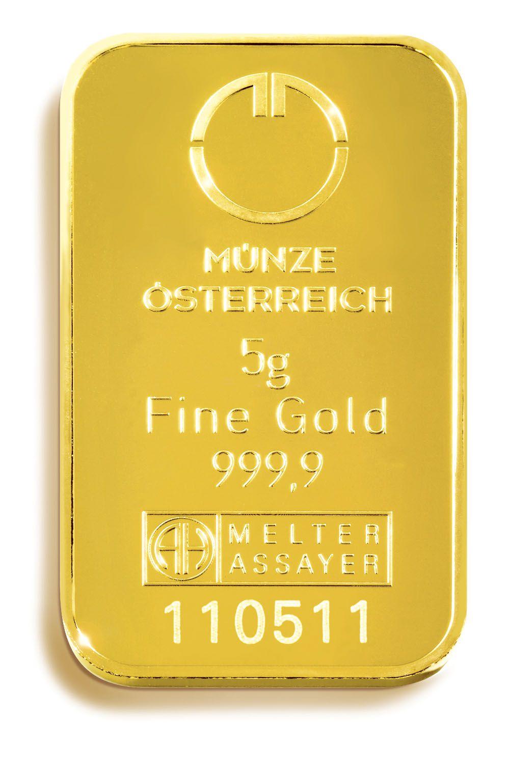 5 g Lipizzaner Goldbarren