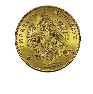 4 Florin Goldgulden Goldmünze