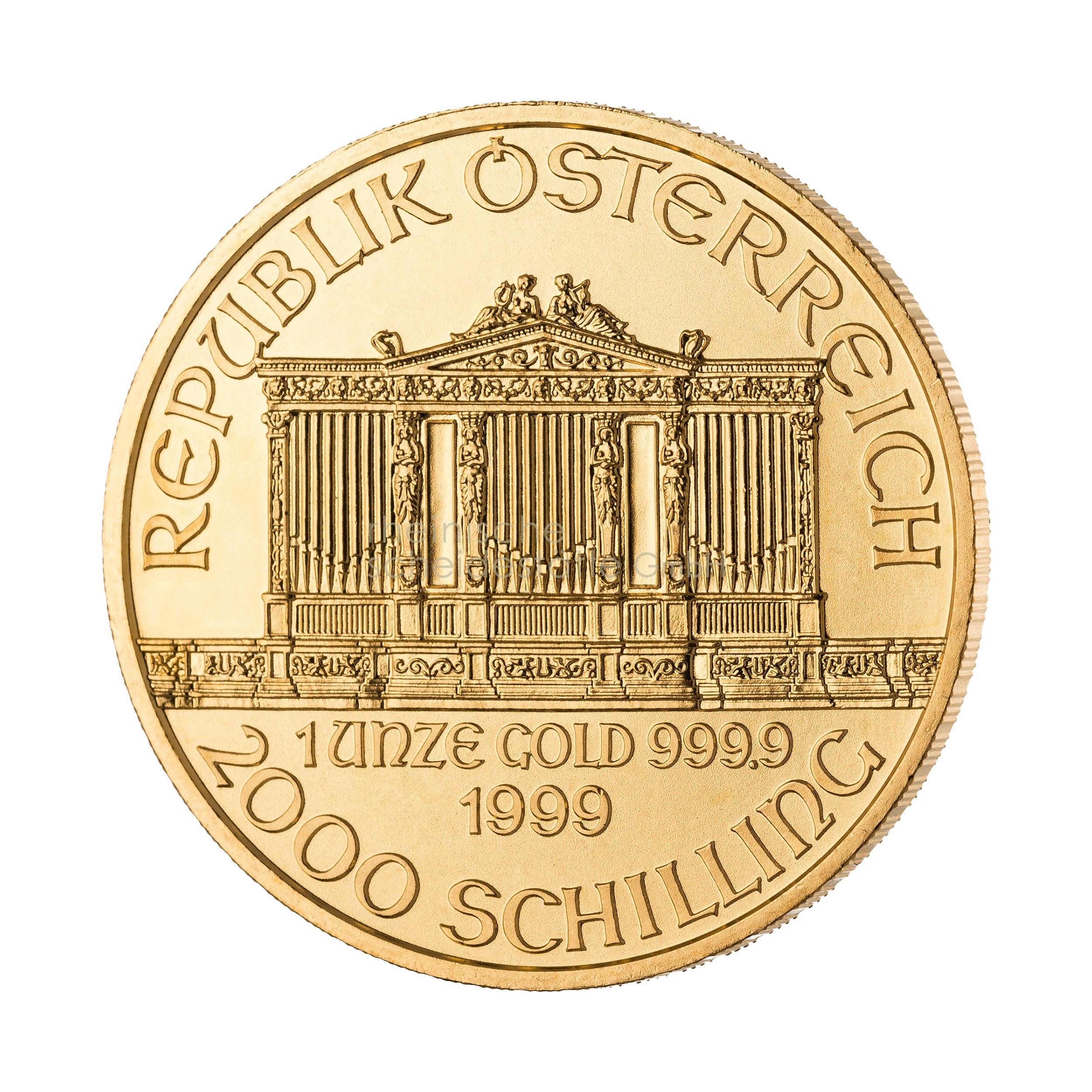 1 Unze Wiener Philarmoniker Goldmünze 1