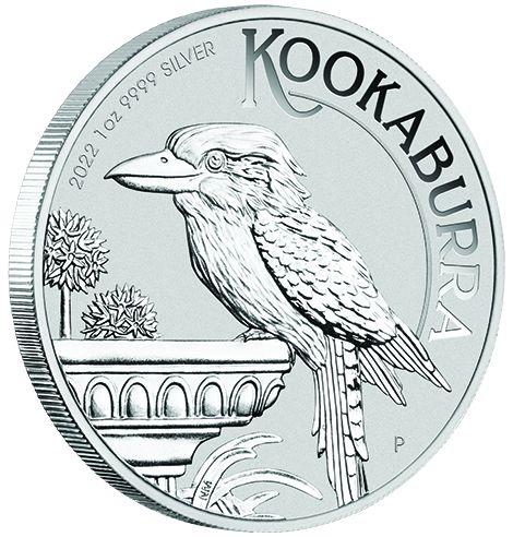 1 Unze (oz) Kookaburra Neuware Jahrgang 2022