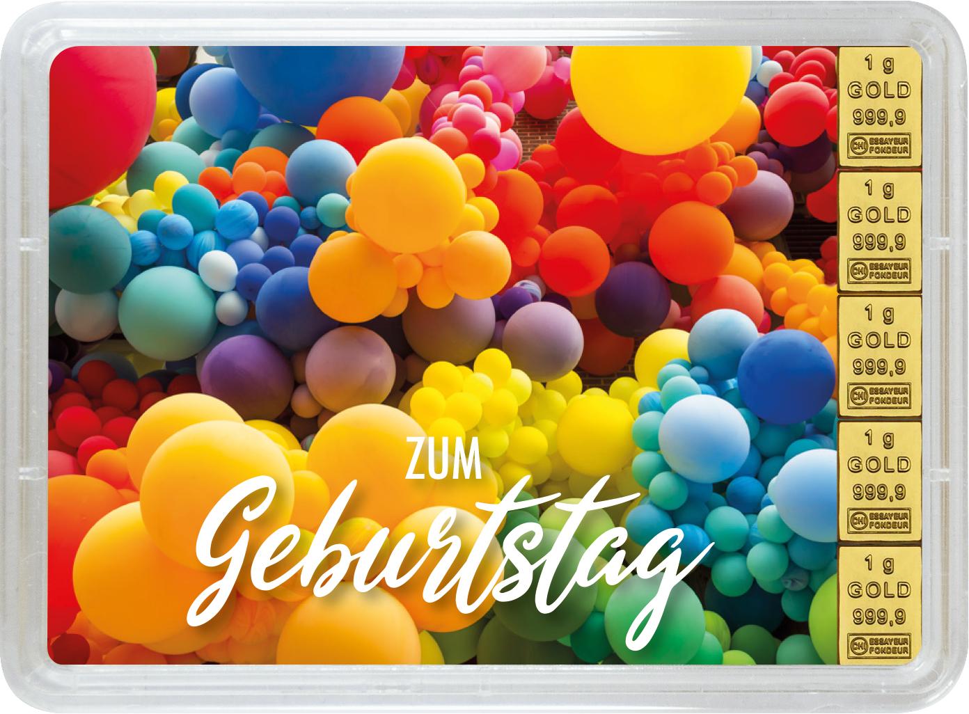 """5 g Goldbarren Geschenkbarren """"Geburtstag"""""""