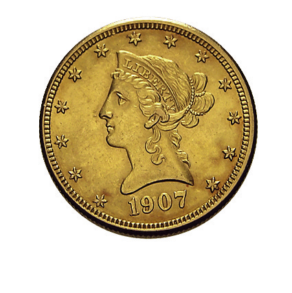 10 US-Dollar Liberty Head Goldmünze Frauenkopf