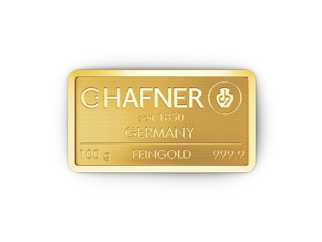 100g Hafner Goldbarren c