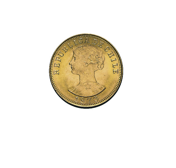50 Pesos Chile Goldmünze