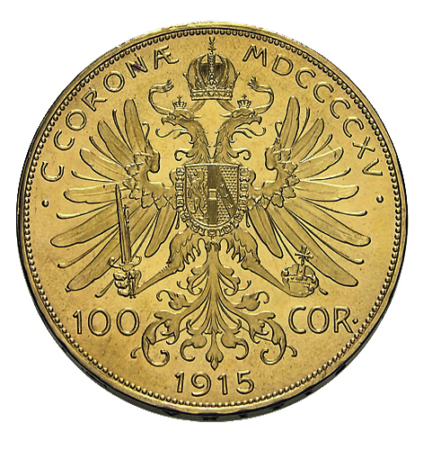 100 Kronen Österreich Goldmünze