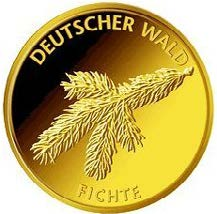 """20-Euro-Goldmünze 2012 """"Fichte"""""""