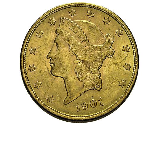 20 US-Dollar Liberty Head Double Eagle Goldmünze
