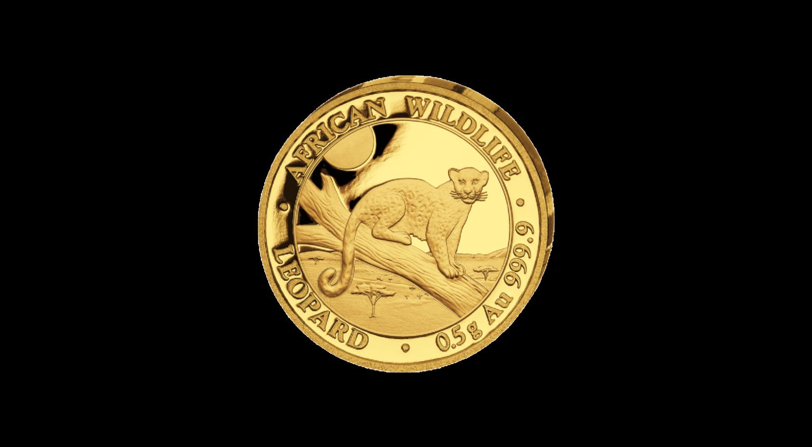 0,5 Gramm Somalia Leopard 2021 PP Goldmünze