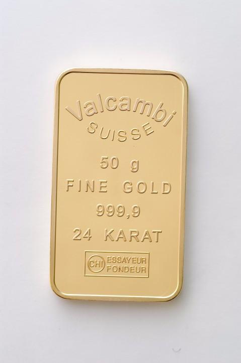 50g Valcambi Goldbarren