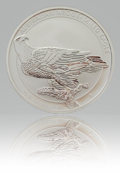 1 Unze (oz) Wedge-Tailed Eagle Silbermünze 2016