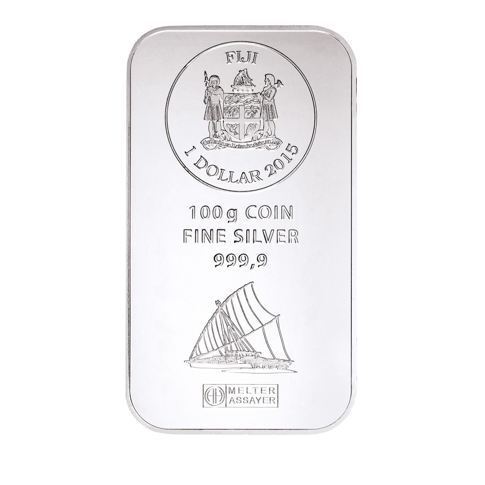100g Fiji Silberbarren