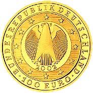 100-Euro-Goldmünze 2002 Übergang zur Währungsunion – Einführung des Euro