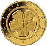 "50-Euro-Goldmünze 2017 ""Lutherrose"""