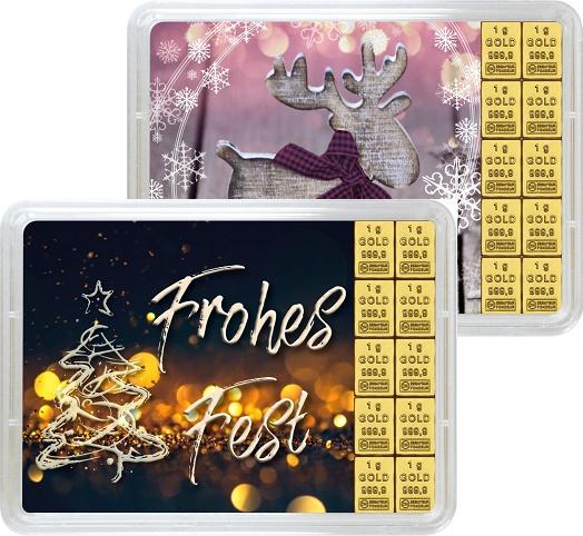 """10 g Goldbarren Geschenkbarren """"Weihnachten"""""""