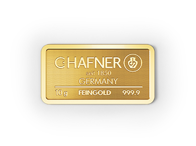 10g Hafner Goldbarren c