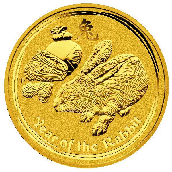 1/4 Unze (oz) Lunar 2 Hase 2011 Goldmünze