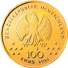 """100-Euro-Goldmünze 2006 """"UNESCO Welterbe – Klassisches Weimar"""""""