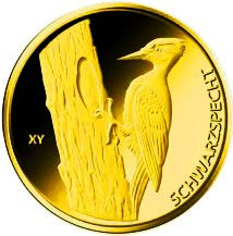 "20-Euro-Goldmünze 2021 ""Schwarzspecht"""