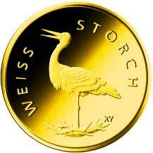 """20-Euro-Goldmünze 2020 """"Weißstorch"""""""