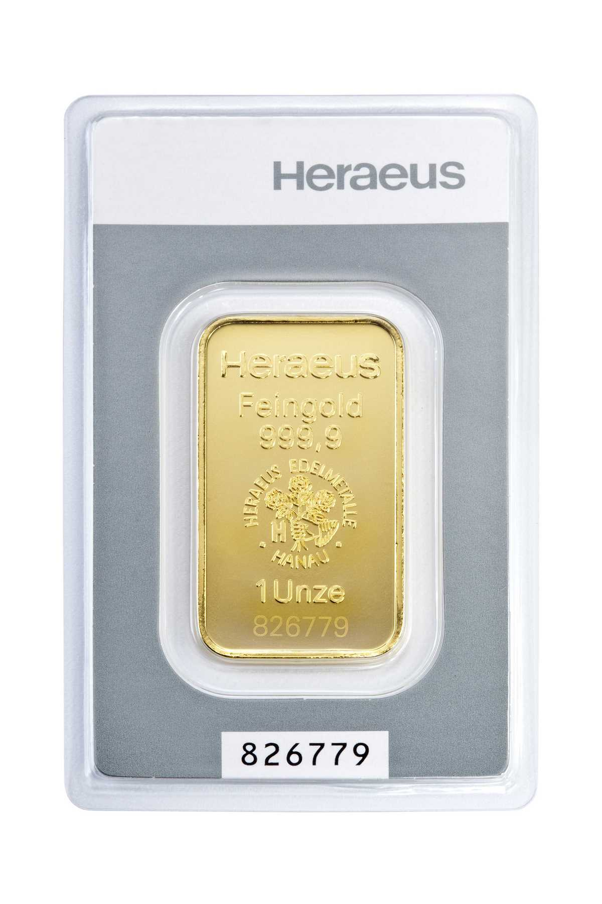 1 Unze (oz) Kinebar Heraeus  Goldbarren Neuware