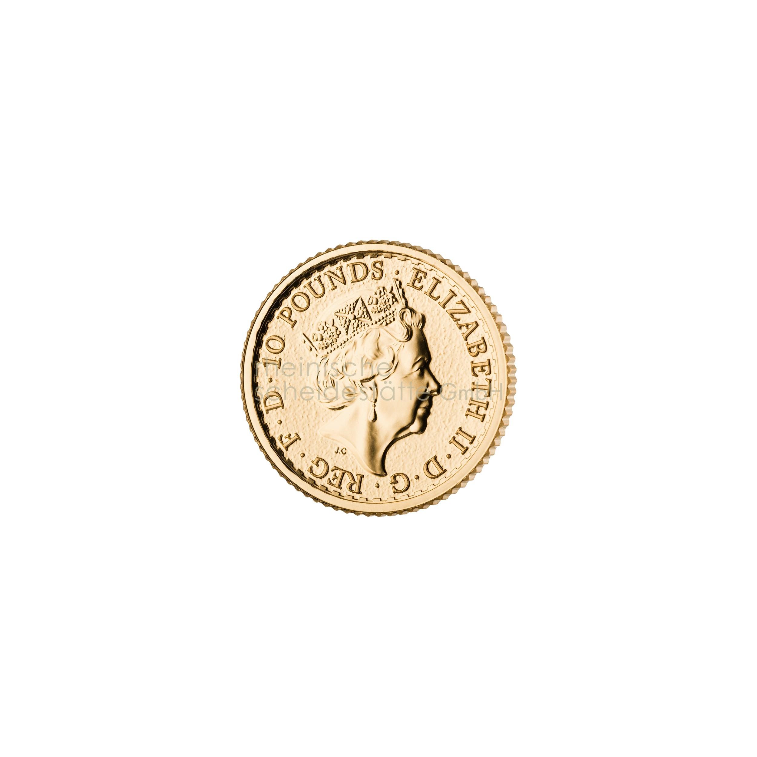 1/10 Unze Britannia Goldmünze 2