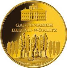 """100-Euro-Goldmünze 2013 """"UNESCO Welterbe – Gartenreich Dessau-Wörlitz"""""""