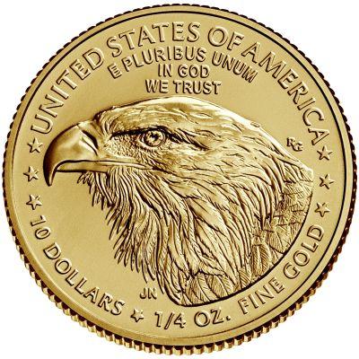 2021 american eagle gold quarter ounce bullion coin reverse new