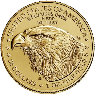 2021 american eagle gold one ounce bullion coin reverse new